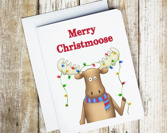 Merry Christmoose Card