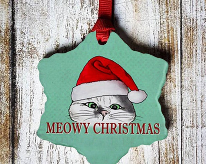 Meowy Christmas Ornament