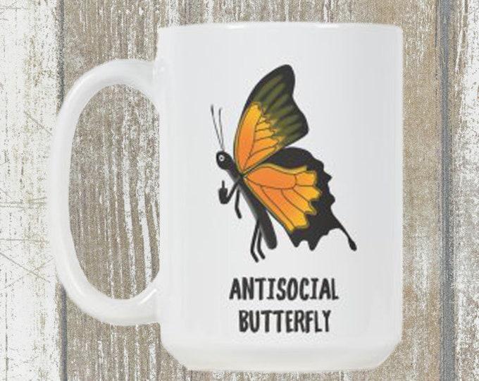 Antisocial Butterfly Mug 15oz