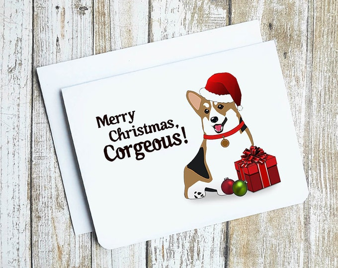 Merry Christmas Corgeous Card
