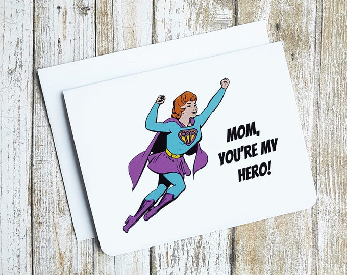 Mom, You're My Hero Card  Item: C1168