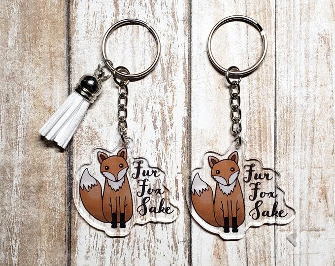 Fur Fox Sake Acrylic Keychain