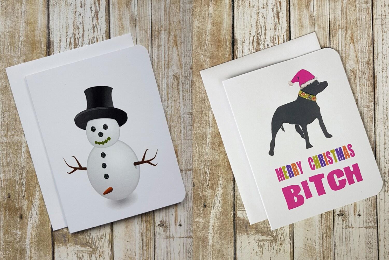 Funny Christmas Cards Christmas Card Set Naughty Christmas Card