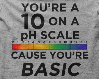 You're a 10 on a pH Scale Cause You're Basic t-shirt