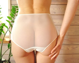 See through   High waist panties   White sheer panties   Underpants    Comfortable   Mint sheer panties   Lingerie   Bridal panty Fast Ship. 0b117e7d8