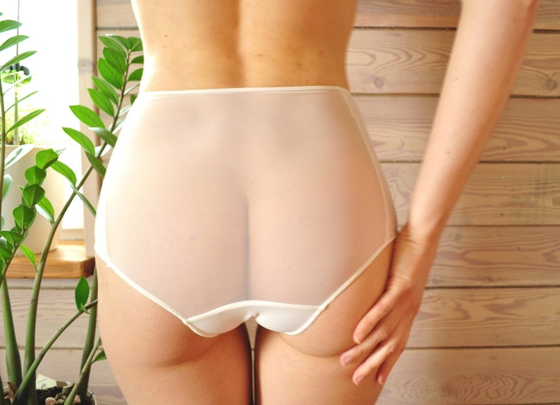 1fa924d3ac See through   High waist panties   White sheer panties