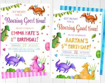Dragon Birthday Party Invitations Dragon Birthday Party Etsy