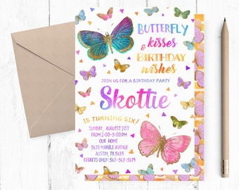 Butterfly Birthday Invitations Butterfly Invites Butterfly