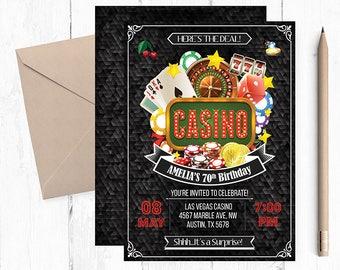 Casino Theme  Invitations, Casino Theme Party, Casino Birthday Invitation, Casino Birthday, Casino Night, Vegas Theme, Casino party,