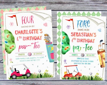 Golf Invitation, Mini golf Invitations, Golf Birthday Invitations, Golf invites, Golf party invite, Golf themed party invitations, printable