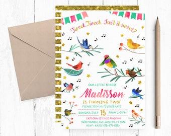 Bird Invitation Etsy