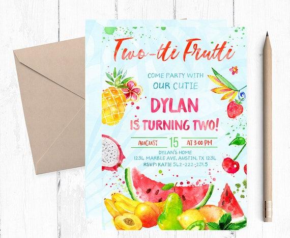 Twotti Frutti Two Year Old Birthday Party