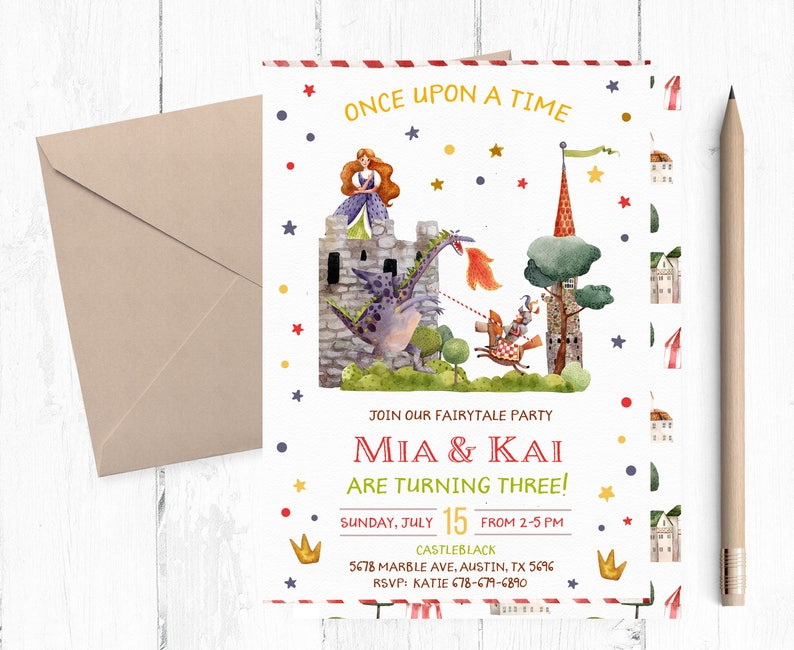 Fairytale Invitation Fairytale Birthday Invitations Etsy