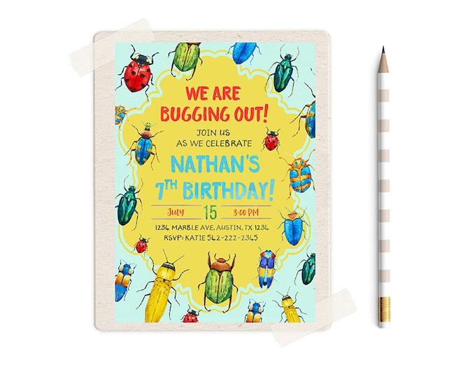 Bugs invitations bug invitation buggy bush birthday bagging etsy image 0 filmwisefo