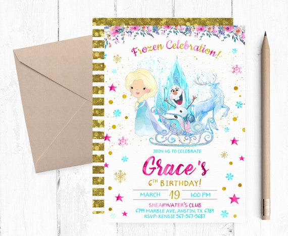 Frozen Birthday Invitation Party Invitations