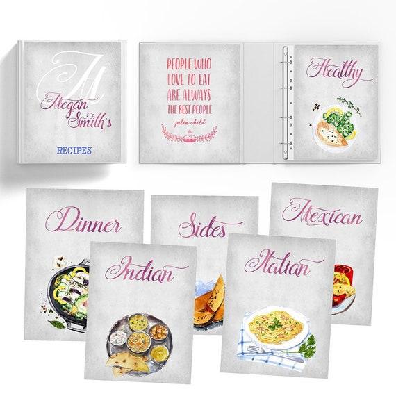 Recipe Binder Kit Book Organizer