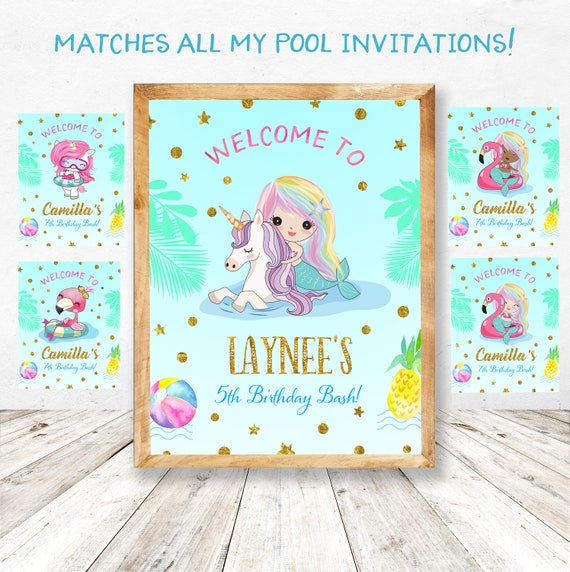 photograph regarding Pool Party Printable identified as Pool Birthday Get together Printable Decorations, Pool Bash Decorations, Pool Celebration Bunting, Pool Occasion Welcome Signal, Pool Celebration Cupcake Toppers,