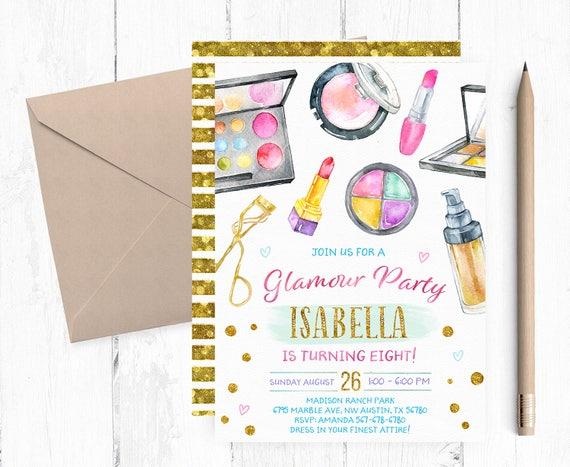 Verjüngungskur Einladung Make-up-Einladung Makeover | Etsy