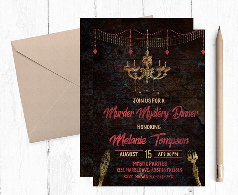 Murder Mystery Dinner Invitation Invitations Sherlock Holmes Party Invites Invite