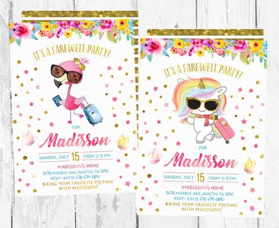 Farewell Party Invitation Farewell Party Invitations Going Etsy