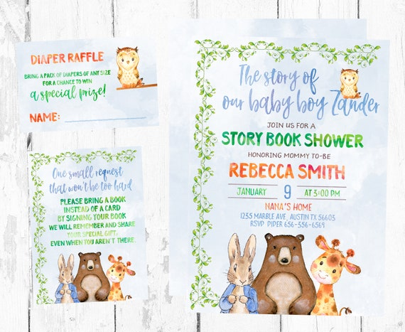 Storybook baby shower invitation storybook baby shower etsy image 0 filmwisefo