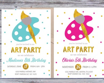 Art invitations painting party birthday party paint box art birthday party invitations art birthday invitation art birthday invitations art birthday invitation painting party paint invitation stopboris Images