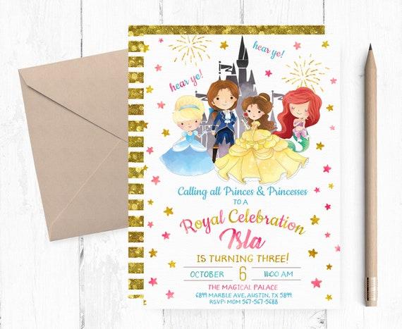 Personalized Royal Birthday Party Invitations Royal Birthday Etsy