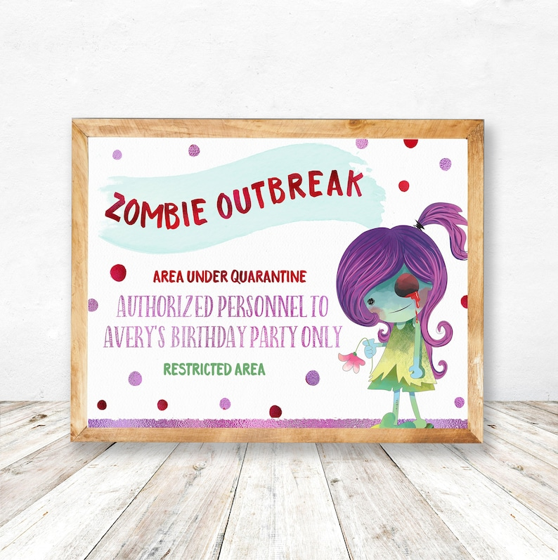 photograph about Quarantine Sign Printable called Zombie Occasion Printables, Zombie Occasion Decorations Printable, Zombie Bunting, Zombie Thank by yourself card, Zombie Indicators, Zombie Labels, Zombie Pack