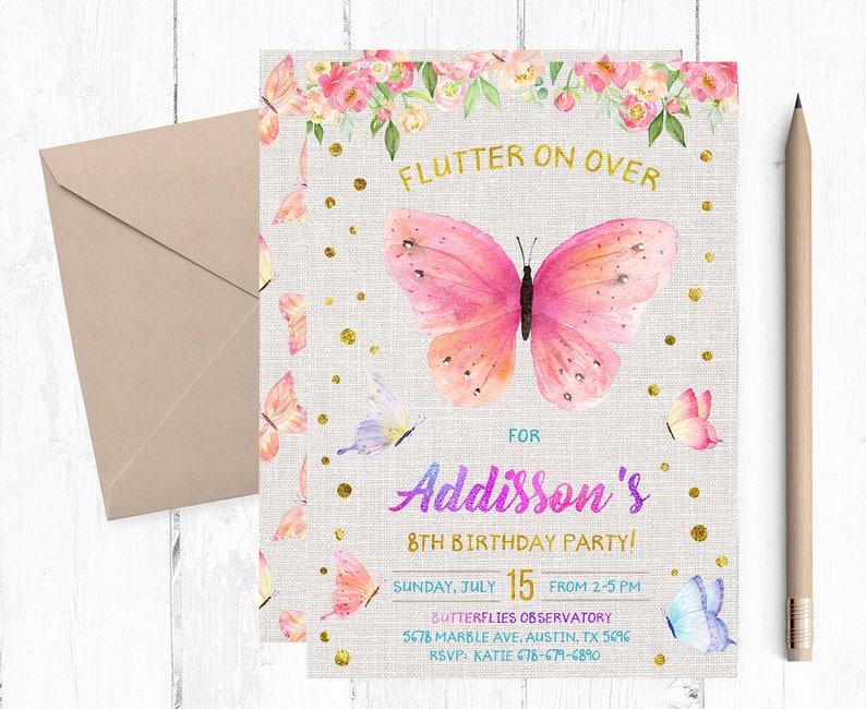 Butterfly Invitations Butterfly Invitation Butterfly Etsy