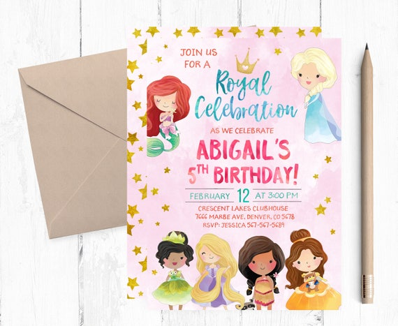 Princess invitation birthday princess party invitation etsy image 0 filmwisefo