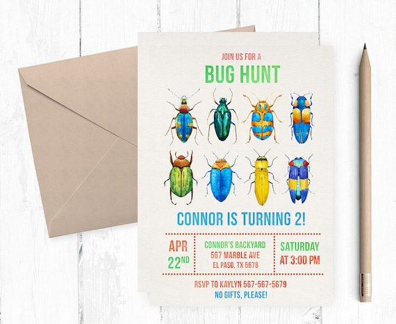 Bug birthday invitation insect invitations insects etsy image 0 filmwisefo