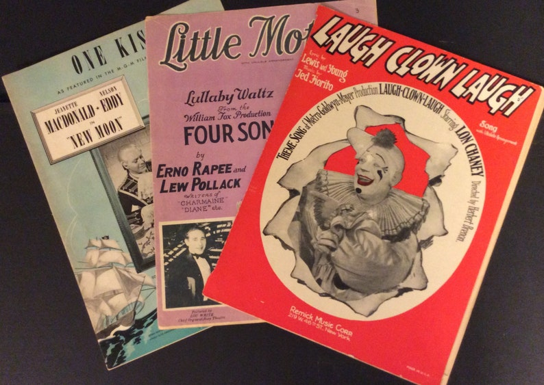 Vintage Sheet Music Lot of 3 - 1928