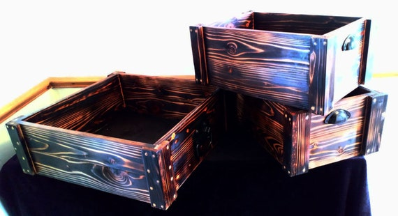 Wooden Crates Retail Display Shelve Storage Gift Boxes Fruit Boxes