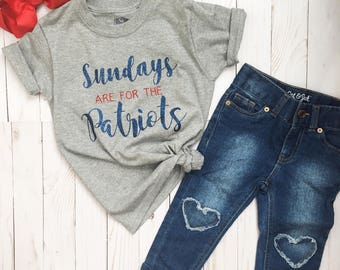 a5019124e Sunday's are for the Patriots, Patriots Football, Girl Patriots Shirt,  Sunday Funday, Patriots Shirt, Toddler Patriots Shirt, New England