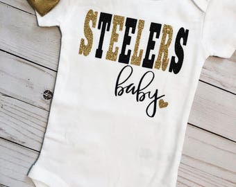 uk availability fbb59 12d84 Steelers baby | Etsy