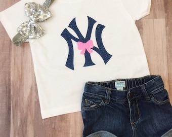 Yankees Girl's Shirt • Yankees Toddler • Yankees Cute Shirt • Yankees Baby • Yankees onesie • Yankees baby girl