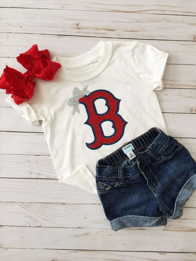 1ed335522 Red Sox Shirt Red Sox Girls Shirt Kids Red Sox Baby Red | Etsy
