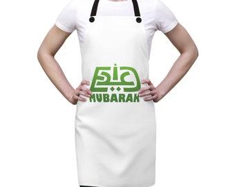 - Greetings of the blessed day of Eid Green Eid Mubarak Fleece Baby Bib Original Design in Arabic
