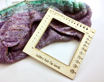 Knitting Ruler Gauge Meter Inches & Centimeters
