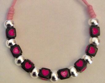 Friendship Love Heart -Wax Cord Bracelets