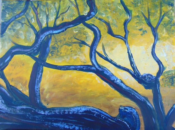 Original artwork, landscape painting, office decor, home decor, acrylic on canvas, wall art, for art lovers, nature lovers, tree art