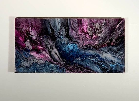Pour painting, Valentine's gift, statement artwork, flow art, original art, wall art, home decor, abstract painting, boho decor
