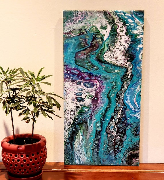 Pour painting, boho decor, office decor, pour painting, statement artwork, flow art, original painting, wall art, home decor, abstract art