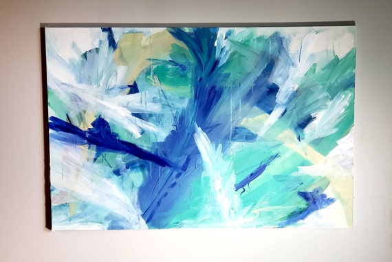 Large artwork, large abstract art, original painting, abstract painting, wall art, home decor, 36x24 inches
