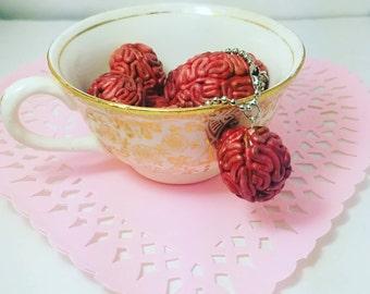 Zombie Brain Key Chains   Planner Charm   Brains   walking dead
