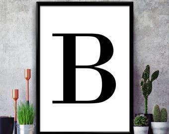 Posters Met Letter : B letter poster etsy