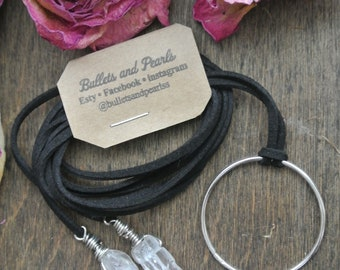 three-way leather wrap necklace