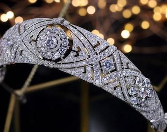 Meghan Markle Wedding Tiara Cubic Zirconia Headband Royal Wedding Tiara Replica UK High Quality Bandeau Sussex Royal Rhinestone Headpiece
