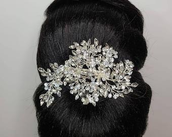 Elegant Crystal Bridal Hair Clip Rhinestone Hair Accessories Bridesmaid Hair Jewelry For Wedding