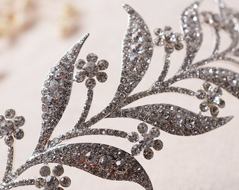 Lady Mary  Downton Abbey Wedding Tiara Hairpiece  Delicate Headpiece UK Style Edwardian Era Silver Leaf  Filigree Beautiful Wedding Tiara